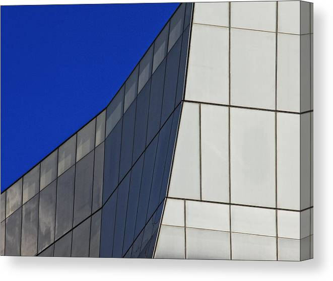 Architectural Detail Canvas Print featuring the photograph Detail Frank Gehry Building Mnhattan by Robert Ullmann
