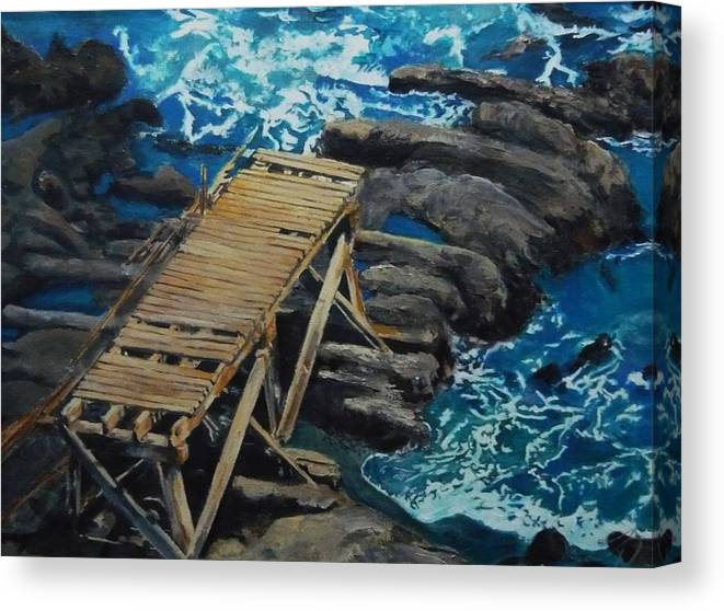 Dock Canvas Print featuring the painting Dock by Travis Day
