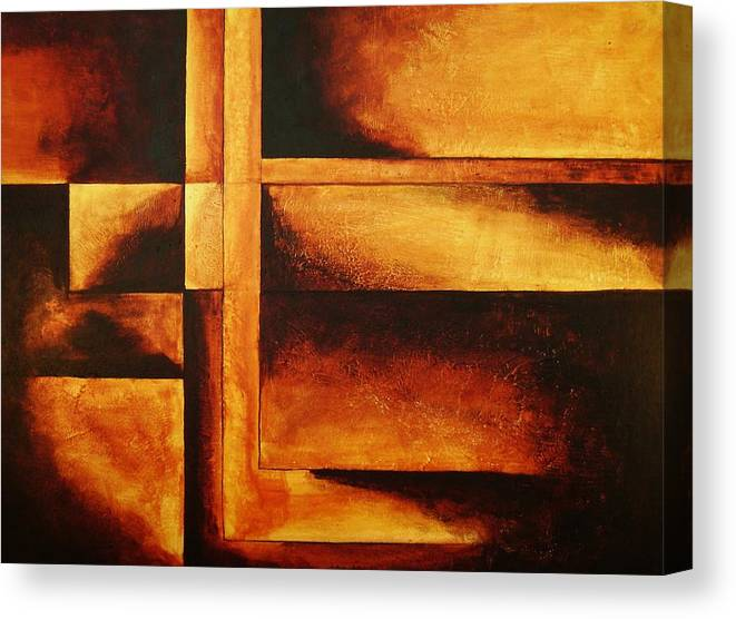 Modern Art Canvas Print featuring the painting Equilibrio by Marco Solis