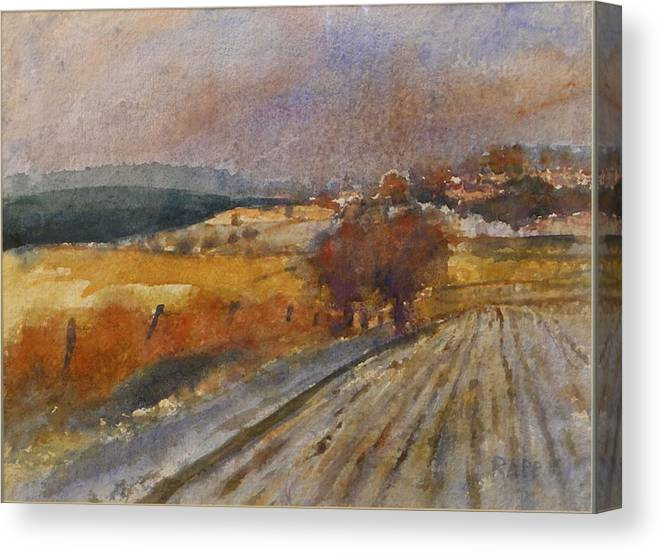 Fall Canvas Print featuring the painting Fall Storm by Jan Rapp
