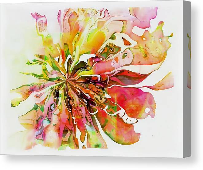 Fractal Canvas Print featuring the digital art Flowers 005 by Amanda Moore
