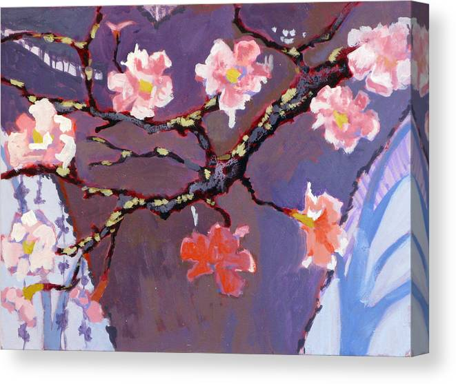 Blossom Canvas Print featuring the painting Forest In Bloom by Robert Bissett