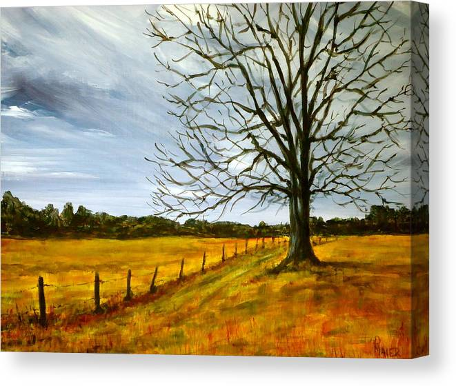 Treescape Canvas Print featuring the painting Ga Winter by Pete Maier