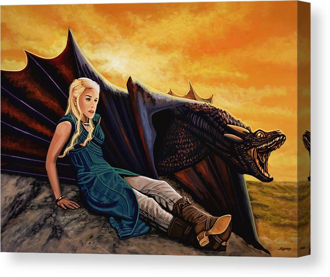 Game Of Thrones Painting Canvas Print