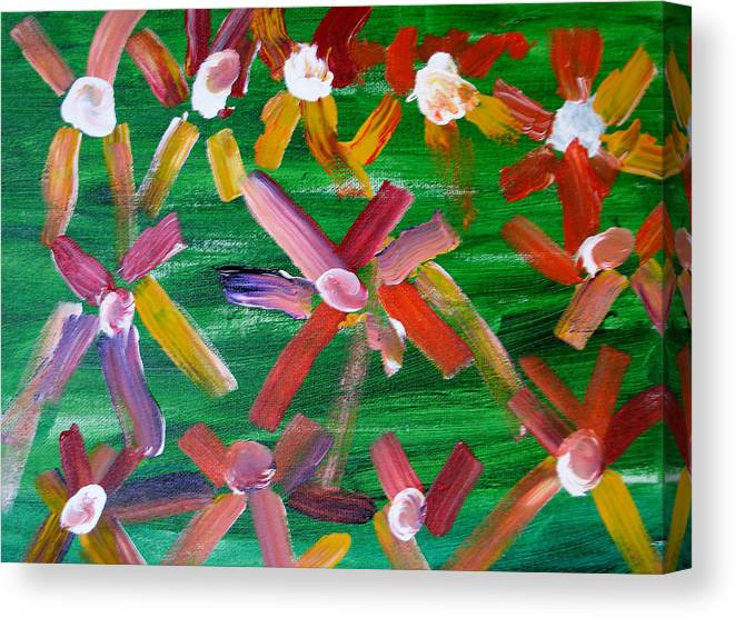 Flowers Canvas Print featuring the painting Gary's Flowers by Gary Giagrande