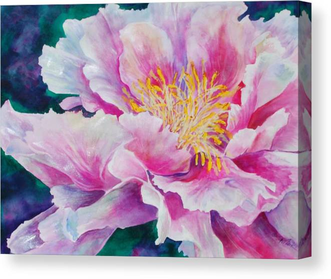 Floral Canvas Print featuring the painting Glory by Donna Pierce-Clark