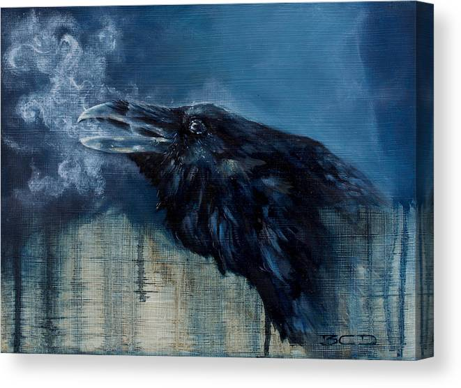 Animal Canvas Print featuring the painting Last Breath by B C Dilworth