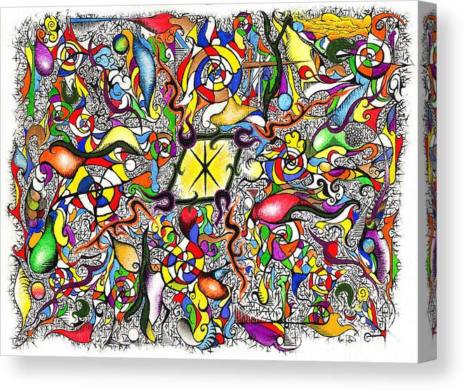 Colorful Canvas Print featuring the painting Lead Salad by Nathaniel Hoffman