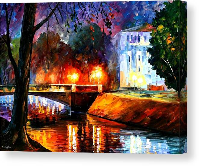 Afremov Canvas Print featuring the painting Memories Of The First Love by Leonid Afremov