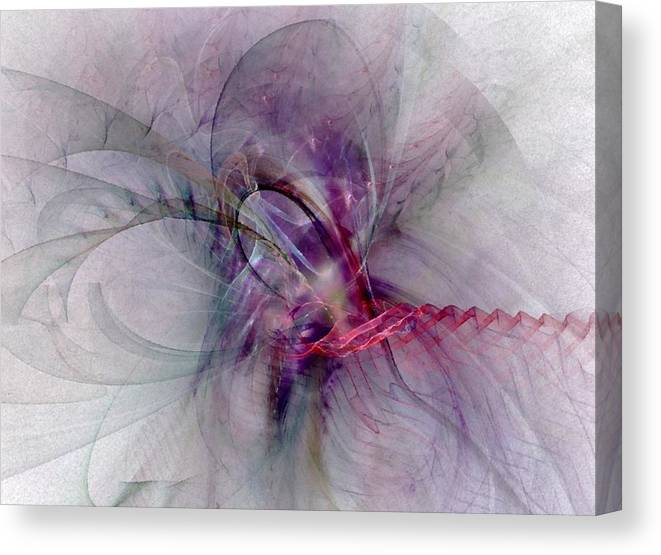 Spiritual Canvas Print featuring the digital art Nobility Of Spirit - Fractal Art by NirvanaBlues