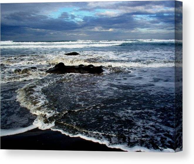 Ocean Canvas Print featuring the photograph Rough Waters by Trisha Allard