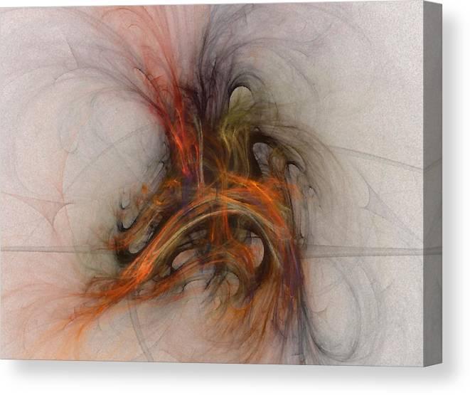 Saving Canvas Print featuring the digital art Saving Omega - Fractal Art by NirvanaBlues