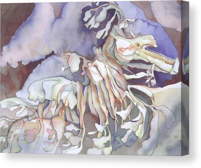 Nature Canvas Print featuring the painting Seadragon Fantasy II by Liduine Bekman