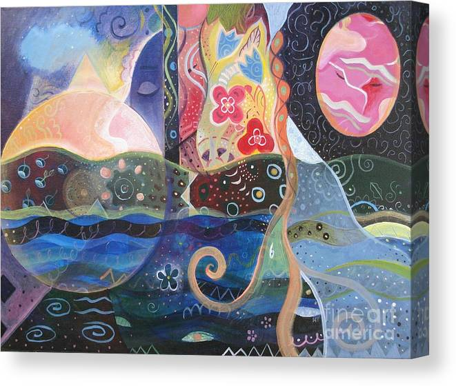 Seeker Canvas Print featuring the painting Seeking Wisdom by Helena Tiainen