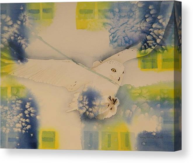Snowy Owl Canvas Print featuring the painting S.o. Cold by Terry Honstead
