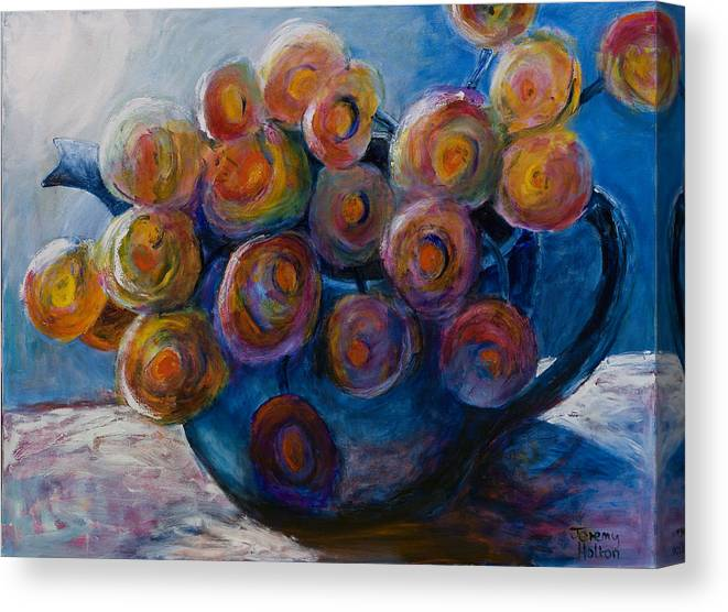 Flowers Canvas Print featuring the painting Song Of Flowers by Jeremy Holton