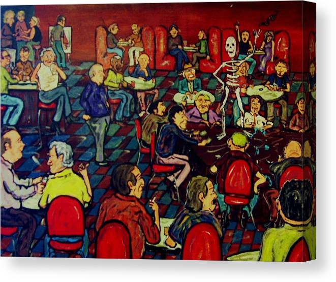 Strip Canvas Print featuring the painting Soul Stripping by Richard Hubal