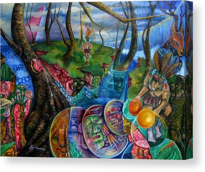 Paintings Canvas Print featuring the painting Spirit Dance by Horacio Montes