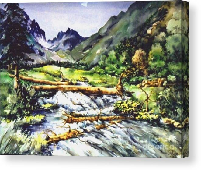 Landscape Canvas Print featuring the painting Spring Rush by Marta Styk