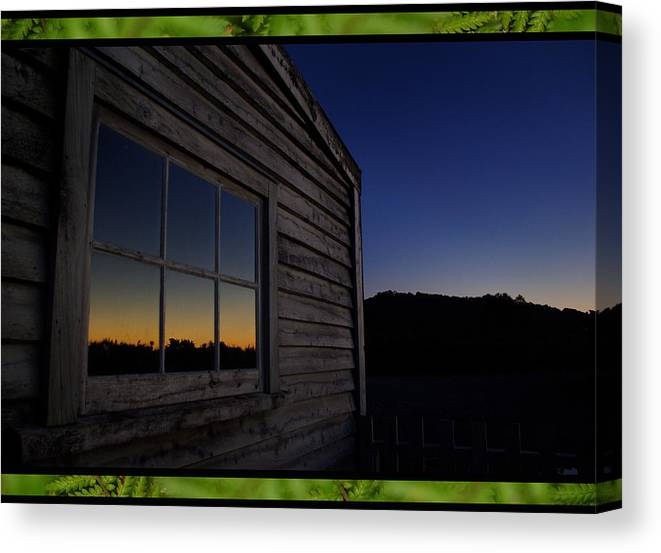 Sunset Canvas Print featuring the photograph Sunset Pane by Peter Prue