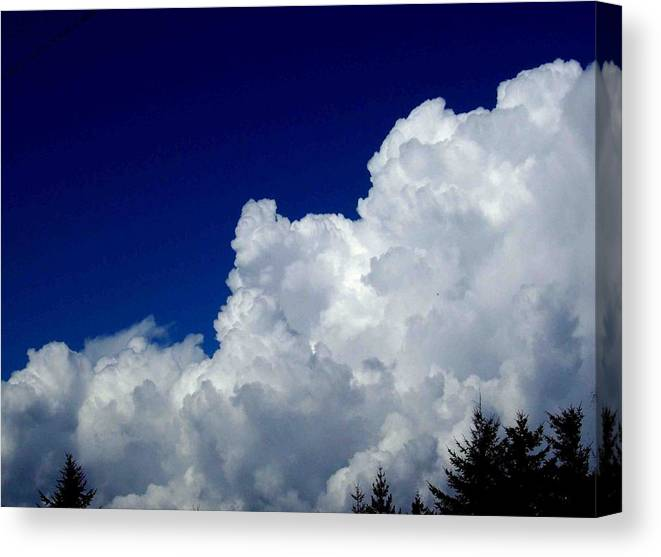 Cloudy Canvas Print featuring the photograph The Cloud by Kevin D Davis