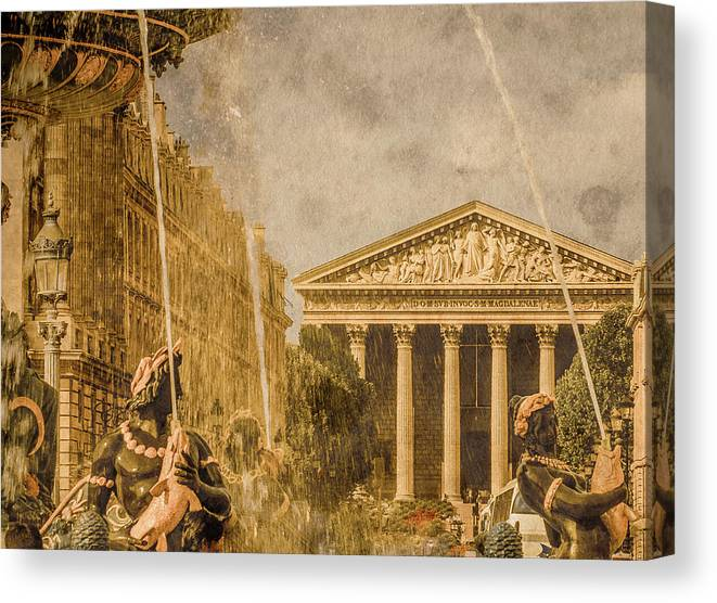 Date Canvas Print featuring the photograph Paris, France - The Madeleine by Mark Forte