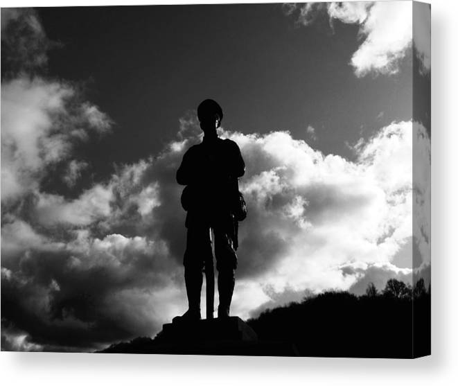 Soldier Canvas Print featuring the photograph Tribute To The Missing by Paul Ratcliffe