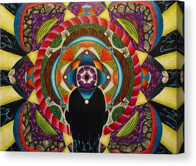 Spirit Canvas Print featuring the drawing Unfolding Spirit by Matthew Fredricey