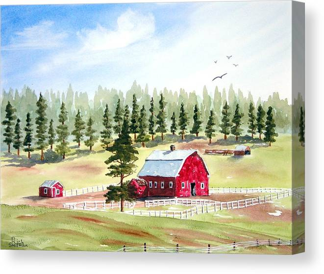 Landscape Canvas Print featuring the painting Van Ocker Canyon by Rich Stedman