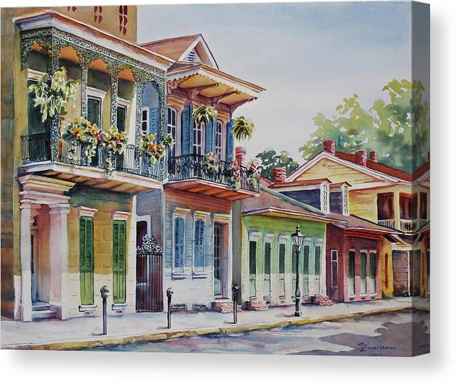 French Quarter Canvas Print featuring the painting Vieux Carre by Sue Zimmermann