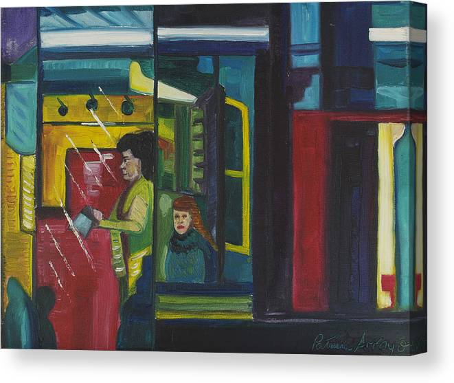 Abstract Canvas Print featuring the painting Watch The Signs by Patricia Arroyo