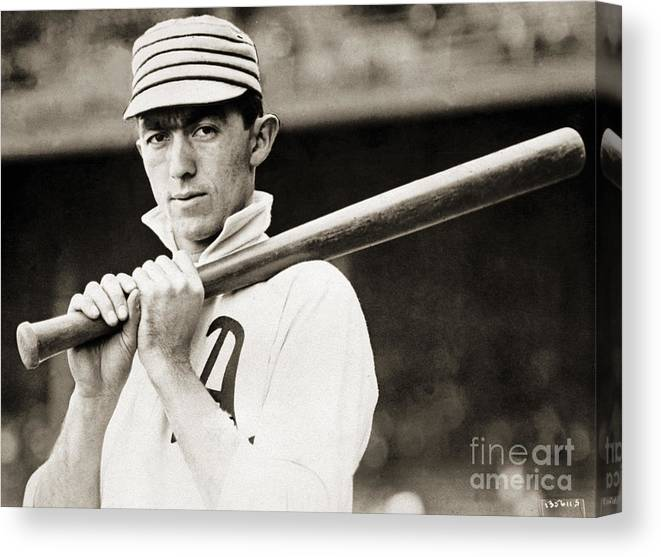 Sports Bat Canvas Print featuring the photograph National Baseball Hall Of Fame Library by National Baseball Hall Of Fame Library