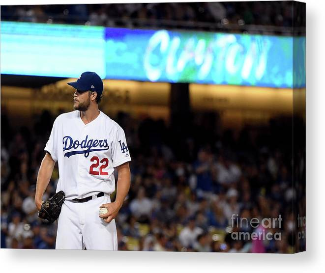 Three Quarter Length Canvas Print featuring the photograph San Diego Padres V Los Angeles Dodgers 8 by Harry How