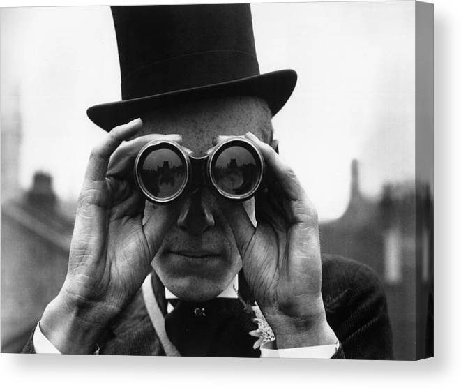 People Canvas Print featuring the photograph Derby Spectator by Topical Press Agency