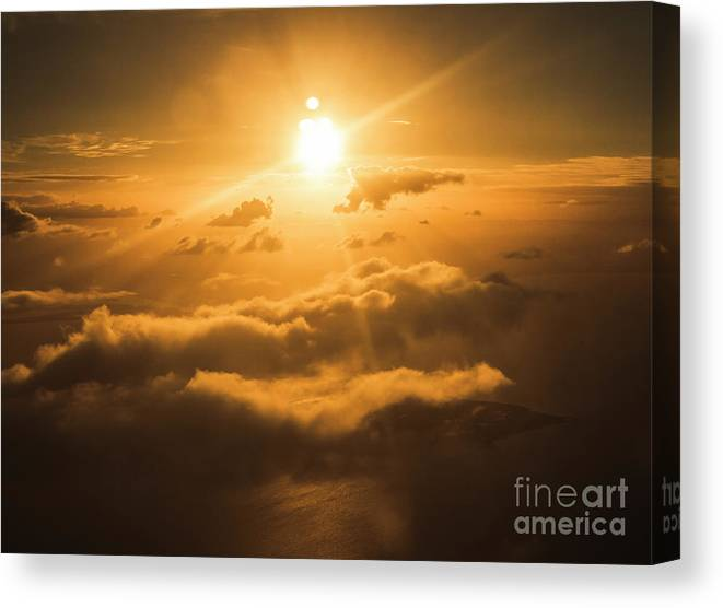 Above Canvas Print featuring the photograph Golden Glow by Jorgo Photography - Wall Art Gallery