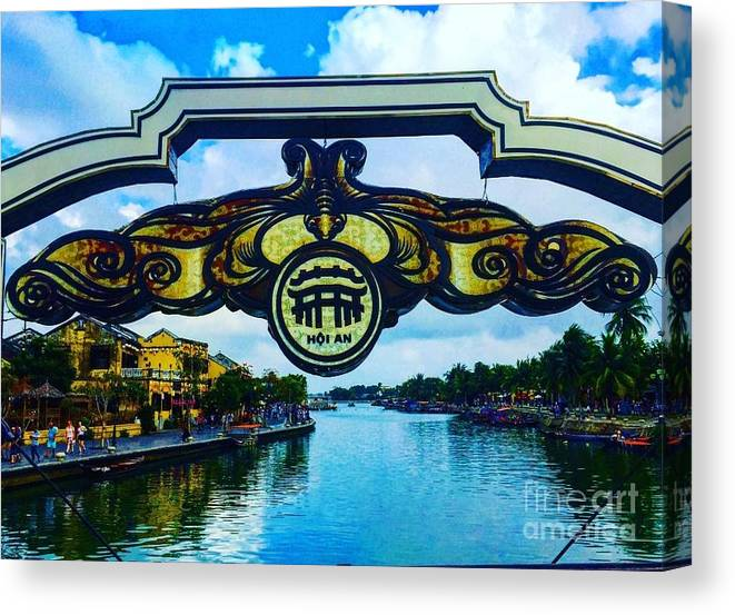 Hoi An Canvas Print featuring the photograph Hoi An Sign by Travelers In Training