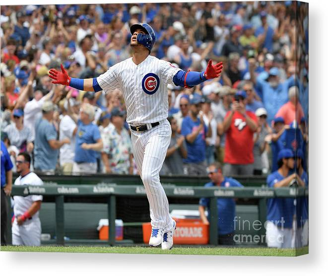 People Canvas Print featuring the photograph Pittsburgh Pirates V Chicago Cubs by Quinn Harris