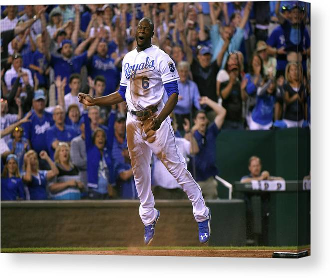 People Canvas Print featuring the photograph Lorenzo Cain by Ed Zurga