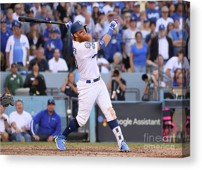 People Canvas Print featuring the photograph Justin Turner by Harry How