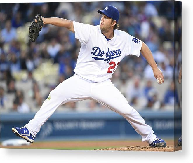 People Canvas Print featuring the photograph Clayton Kershaw by Harry How
