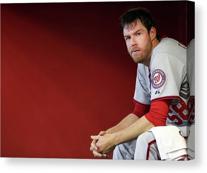 Doug Fister Canvas Print featuring the photograph Doug Fister by Christian Petersen