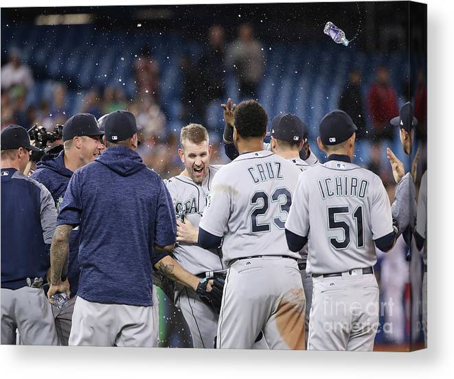 People Canvas Print featuring the photograph James Paxton by Tom Szczerbowski
