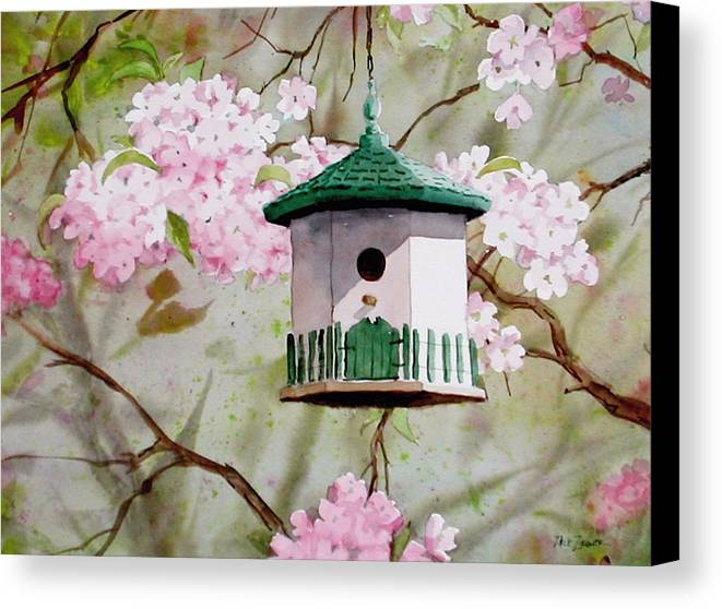 Birds Canvas Print featuring the painting Cabin In The Sky by Faye Ziegler