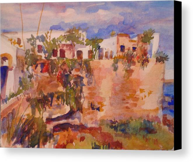 Landscape Canvas Print featuring the painting Casablanca by Joyce Kanyuk