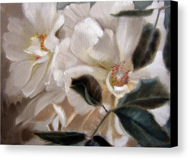 Floral Roses Canvas Print featuring the painting Glow by Patrick McClintock