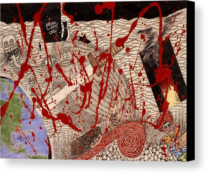 Abstract Canvas Print featuring the print Me Against The World by William Watson