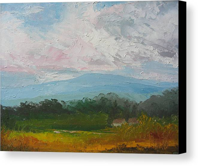 Landscape Canvas Print featuring the painting Summertime by Belinda Consten