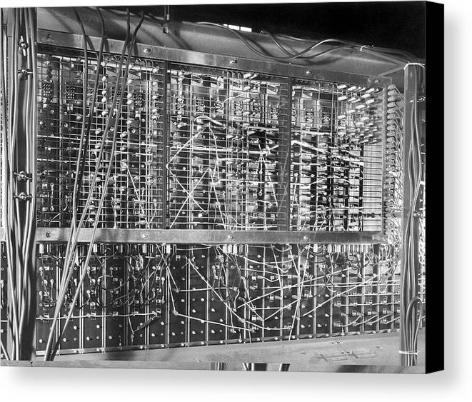 Automatic Computing Engine Canvas Print featuring the photograph Pilot Ace Computer Components, 1950 by Science Photo Library