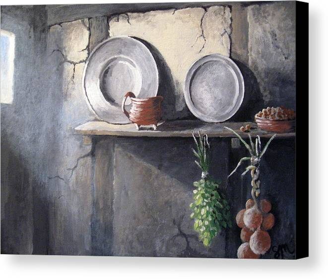 Still Life Canvas Print featuring the painting 1642 by Sharon Marcella Marston
