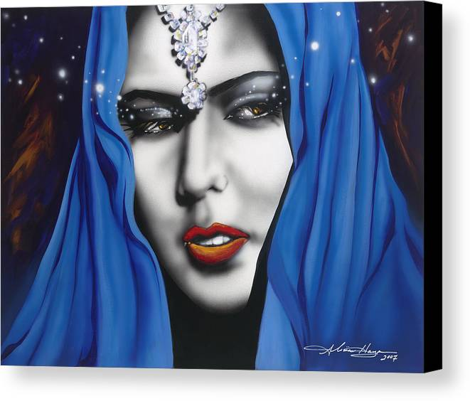 Women Canvas Print featuring the painting Desert Moon by Alicia Hayes